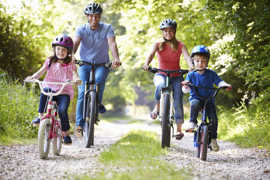 Family cycling fun